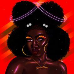 Black Love Art, Black Girl Art, Art Girl, Girl Artist, Artist Art, Natural Hair Art, Black Girl Cartoon, Black Art Pictures, Black Artwork