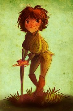 Arya and Needle by kallielef.deviantart.com on @deviantART