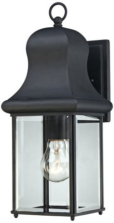 Give your home's exterior a classic lighting look with this lantern-style Mystic black outdoor wall light. Style # at Lamps Plus. Black Outdoor Wall Lights, Outdoor Sconces, Outdoor Wall Lantern, Outdoor Wall Lighting, Home Lighting, Outdoor Decor, Quoizel Lighting, Classic Lighting, Exterior Lighting