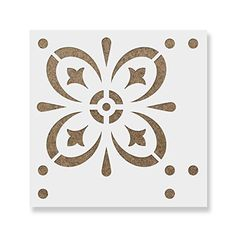 (41cm x 41cm) - Starvos Tile Stencil - Reusable Floor & Backsplash Mediterranean Tile Stencils for Home Decor, Furniture, and Walls 41cm x 41cm