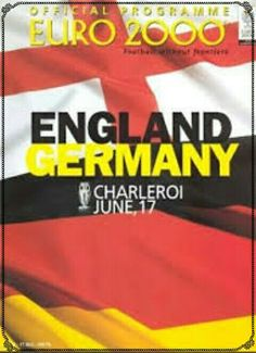 England 1 Germany 0 in 2000 in Charleroi. The programme cover for the group match in the European Championship.