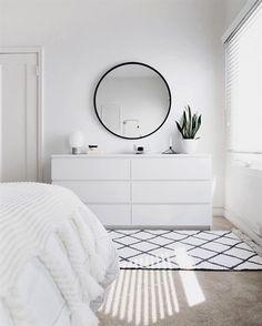 ZEN ROOM: Ideas for a Zen bedroom House decoration ideas ideas # for . - ZEN ROOM: Ideas for a Zen bedroom House decoration ideas ideas - Simple Bedroom Decor, Bedroom Ideas, Bedroom Designs, Bedroom Inspo, Simple Bedrooms, Ikea Room Ideas, Ikea Bedroom Design, Ikea Malm White, Small White Bedrooms