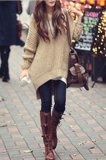 Women's Hooded Long Sweater perfect for cold weather and early morning class
