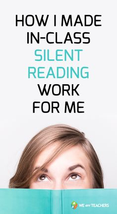 How I made in-class silent reading work for me.  These ideas are really good, especially for middle school teachers and high school teachers.