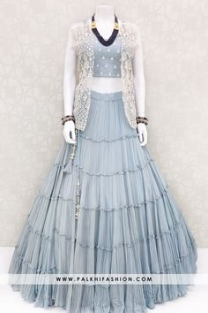 Indian Designer Outfits, Indian Outfits, Designer Dresses, Indian Dresses Online, Gowns Online, Party Wear Lehenga, Party Wear Dresses, Jacket Lehenga, Anarkali Gown