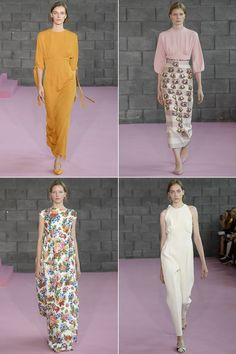 Our favorite collections from London could only be highlightedby three words: volume, cropped, femininity. Ok, four. Pink.