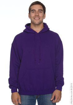 Image of the Gildan G185 Adult 50/50 Heavy Blend Pullover Hood Sweatshirt - Blank / Plain