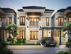 Duplex Design, Modern House Design, Style Villa, Luxury Homes Dream Houses, Facade House, House Layouts, Big Houses, Classic House, Jimbaran