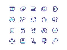 Healthy icons by Stephen Andrew Murrill on Dribbble Health Icon, Healthcare Design, Icon Set, Icon Design, Healthy, Vector Icons, Pitch, Graphics, Search