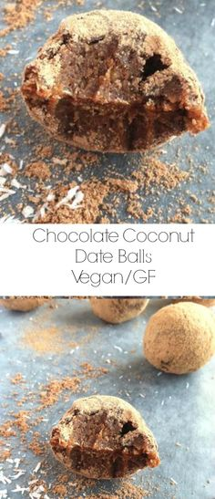 Chocolate Coconut Date Balls Vegan – Gluten Free – Soy Free – Refined Sugar Free these are SUPER EASY and very HEALTHY! / TwoRaspberries.com