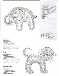 """Photo from album """"Неразобранное"""" on Yandex. Bobbin Lace Patterns, Crochet Patterns, Bruges Lace, Bobbin Lacemaking, Lace Making, Creative Activities, String Art, Projects To Try, Elephant"""