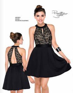 Paulina Goto viste sexy vestido de color negro