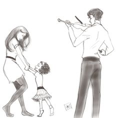 Lexie sometimes draws • Prompt: Sherlock/Molly; violin + dancing. The...