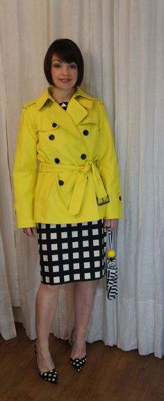 {checks, dots and a pop of yellow} @kate spade new york