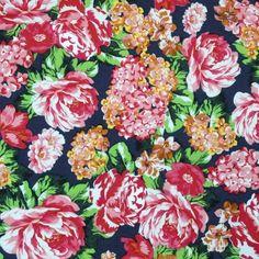 Bright Floral Viscose £8.75