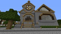 minecraft designs hall town cute building discover wall