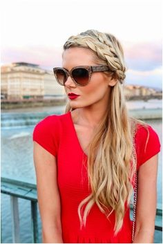Twisted Headband Braided Hairstyle: Holiday Hairstyles for Long Hair