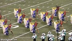 A flag core on the field for the Durm Corps International World Class Championship  #dci