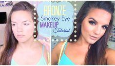 Bronze Smokey Eye    Makeup Tutorial .. Crazy how makeup can change the way a girl looks