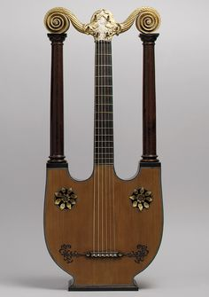 Pons fils (probably a son of César Pons) Paris, France. Lyre–guitar, early 19th century (ca. 1805). The Metropolitan Museum of Art, New York. Purchase, Clara Mertens Bequest, in memory of André Mertens, 1998 (1998.121) #paris