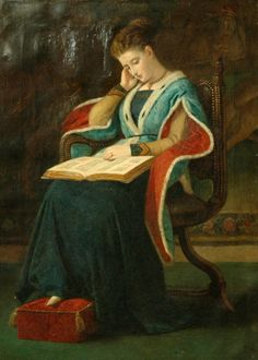 historical scottish women | Woman Reading, 1864. James Archer, Scottish, 1824-1904. Painter of ...