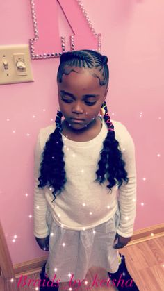 # scalp Braids for boys Iverson pig tails Black Kids Hairstyles, Cute Little Girl Hairstyles, Little Girl Braids, Natural Hairstyles For Kids, Black Girl Braids, Boy Hairstyles, Kids Braids With Beads, Braids For Kids, Girls Braids