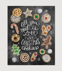 Flour-dusted counter tops, delectable treats iced and baked in all shapes and sizes- all in the name of Christmas.
