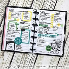 I'm so behind in life! I've been busy and working, working. Plus I have a cold.  But I'm trying to #playcatchup the best I can. Here's my layout for March 6 - 12, 2017 in my #minihappyplanner. • #sparklecreationsminihappyplanner #teclearlyplanned #studiol2e