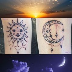 Awesome matching Sun & Moon tattoos from yesterday by Sammie (@sammielou_tattoos) she's got space to fill next week. She has lots of her own original designs waiting to be done or she can create your own unique bespoke design based off your ideas. Come and see us on Fish St WR1 2HN you can contact us on 07596 237438 or worcestertattoostudio@hotmail.co.uk Facebook: http://ift.tt/2xOvSO3 #worcestertattoos #worcestertattoostudios #worcester #kiderminster #malvern #droitwhich #westmidlandstattoo…