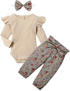 100% Cotton Imported ♥ Material: Cotton.Soft and Comfortable Baby Clothes for Girl, Quickly Dry and Breathable. ♥ Perfect Romper for you little cute girl, cute newborn baby girl clothes in spring, autumn and winter. Your girl will get lots of compliments ♥ Baby girl clothes newborn,baby clothes for girl 0-3 months,baby girl outfits 3-6 months, baby clothes girl outfits 6-9 months, cute girl baby clothes 9-12 months, ,12-18 months toddler baby girl clothes. Girls Winter Outfits, Baby Girl Fall Outfits, Winter Baby Clothes, Baby Girl Winter, Kids Outfits Girls, Cute Baby Clothes, Baby Girl Fashion, Babies Clothes, Cute Newborn Baby Girl