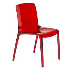 Laos Tranparent Red Modern Dining Chair - Overstock™ Shopping - Great Deals on Dining Chairs $154.99