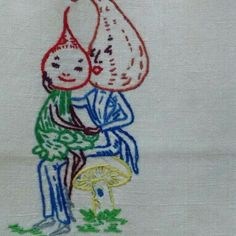 This embroidered veggie couple! can be found as one of seven trees towels at me Etsy shop. Also the retro vest/waistcoat made in Canada by Kitten. Find them at Marzipanorama Tea Towels, Dream Catcher, Kitten, My Etsy Shop, Snoopy, Retro, Trending Outfits, Unique Jewelry, Handmade Gifts