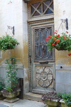 old carved door France