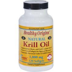 Healthy Origins Krill Oil - 1000 Mg - 120 Softgels  #organic #inspiredbeacon #love  #FishOilAndOmegas #Supplements #WheatFree #GlutenFree #YeastFree
