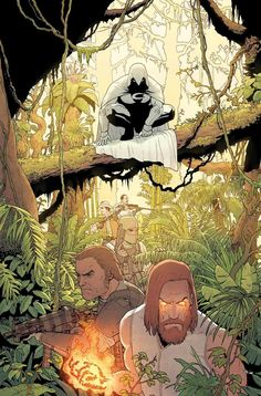 Moon Knight * Two avatars enter the jungle, only one will leave! * The Sun King's ritual of ascendance is prepared. * But Moon Knight won't go gentle. Comic Movies, Comic Book Characters, Marvel Characters, Comic Book Artists, Comic Books Art, Comic Art, Marvel Dc, Marvel Heroes, Disney Pixar