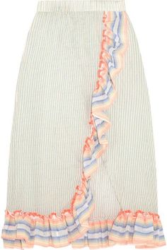 Multicolored cotton-blend gauze Slips on 94% cotton, 5% ramie, 1% polyurethane Hand wash