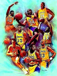 Wilt Chamberlain, Kobe Bryant, Shaquille O'Neal, Magic Johnson Jerry West, James Worthy, Kareem Abdul Jabbar, Elgin Baylor LAKER Greats