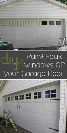 Paint faux windows on your garage door. | 31 Easy DIY Upgrades That Will Make Your Home Look More Expensive by lynda