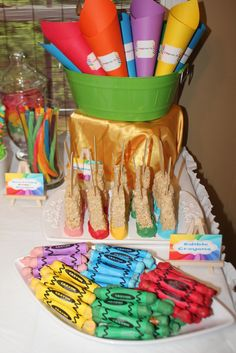"""Photo 12 of 16: Art Party / Summer """"Rainbow Art Party""""   Catch My Party"""