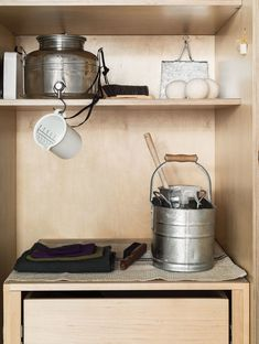 Hack: Olive Oil Container as Laundry Detergent Dispenser - The Organized Home , Solveig Fernlund Laundry Room Photo by Matthew Williams Stying Alexa Hotz. Laundry Room Organization, Laundry Room Design, Laundry Rooms, Organization Ideas, Organizing, Cool Kitchen Gadgets, Cool Kitchens, Olive Oil Container, Homemade Laundry Detergent