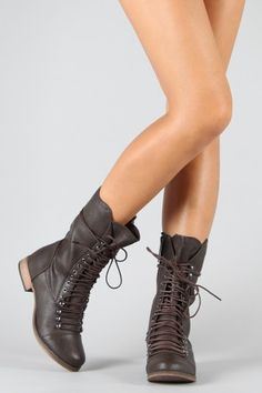 @Emily Seaver    Breckelle Georgia-24 Lace Up Military Mid Calf Boot