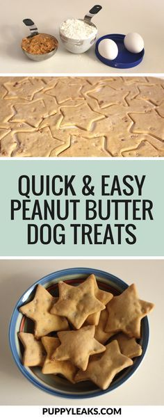 & Easy Peanut Butter Dog Treats Looking for a simple dog treat recipe? These 3 ingredient peanut butter dog treats are quick and easy to make.Looking for a simple dog treat recipe? These 3 ingredient peanut butter dog treats are quick and easy to make. Puppy Treats, Diy Dog Treats, Homemade Dog Treats, Healthy Dog Treats, Healthy Pets, Recipe For Doggie Treats, Dog Treat Cookie Recipe, Recipe Treats, Recipes