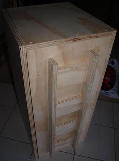 Rear View Fostex FE206En Back-Loaded Horn Loudspeaker Cabinet
