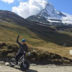 Kickback to Dirt Scooter awesomeness at the Matterhorn! #travel #alps #adventure