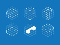 """If I go with a cube-based logo with the ECS in the middle, I can keep that theme going for each of my """"services"""" and have a cube with a relevant graphic item inside of the cube (key, cloud, etc.)"""