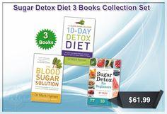 Sugar Detox Diet 3 Books Collection Set.  #SugarDetox #DietBookCollection #BookCollection #BooksForSale