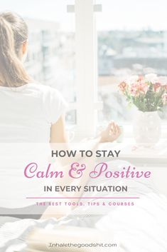 How to stay calm & positive in every situation - The best tools, tips & courses Ways To Reduce Stress, Burn Out, Law Of Attraction Tips, Change Your Mindset, Stay Calm, Spiritual Inspiration, Positive Mindset, Me Time, Spiritual Growth