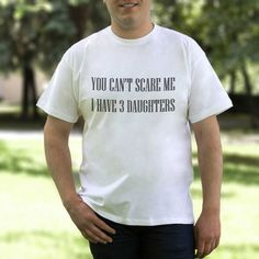 Can't Scare Me Dad Tshirt Funny Mens Shirt от 2PApparel на Etsy