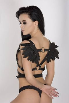 Women Harness Leather Harness With Wings Leather Wings 10f803f91