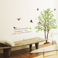 Just Two of Us Tree and Birds Wall Sticker